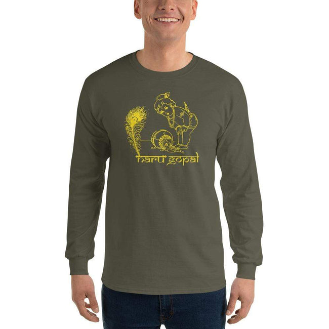 Military Green / S Bengali Ultra Cotton Long Sleeve T-Shirt - Naru Gopal