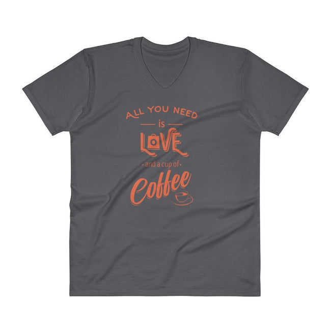 Men's V- Neck T Shirt - All you need is love