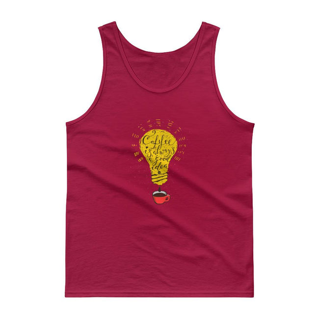 Men's Classic Tank Top - Coffee is always a good idea- bulb