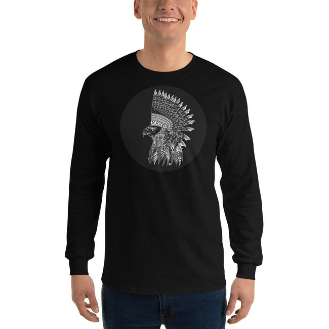 Men's Long Sleeve T-Shirt - Warlord- Eagle