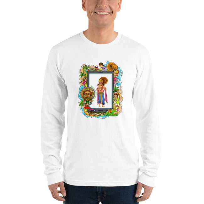 Unisex Long Sleeve T-shirt - Onam- Mahabali