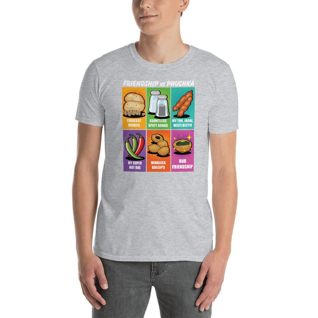 MEN'S ROUND NECK T SHIRT- PHUCHKA AND FRIENDS