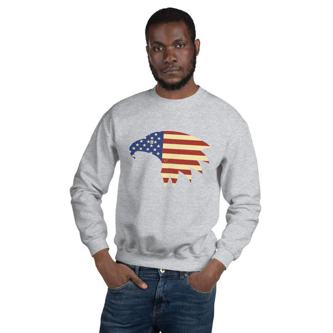 Unisex Crewneck Sweatshirt - Eagle- American Flag design