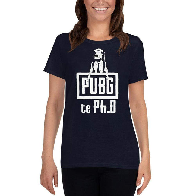 Navy / S Bengali Heavy Cotton Short Sleeve T-Shirt -PUBG Te PHD