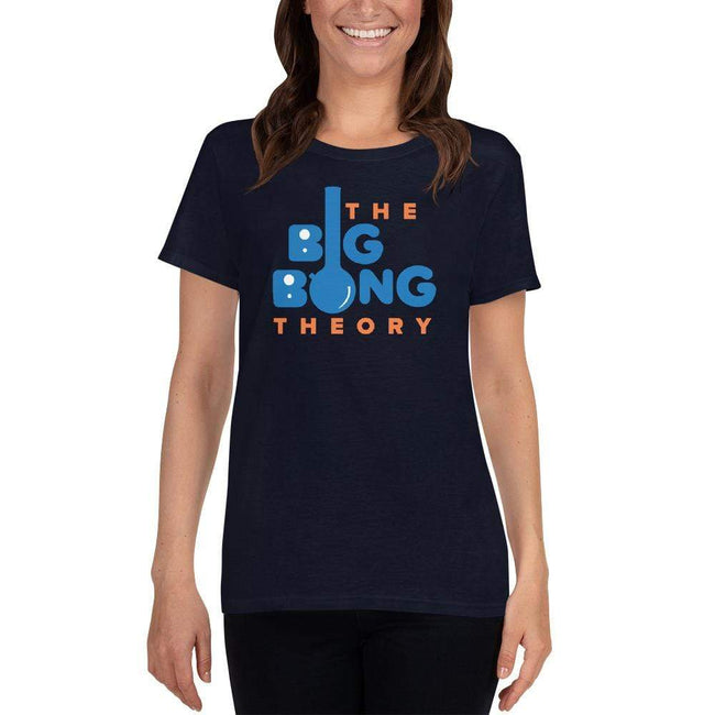 Navy / S Bengali Heavy Cotton Short Sleeve T-Shirt -The Big Bong Theory