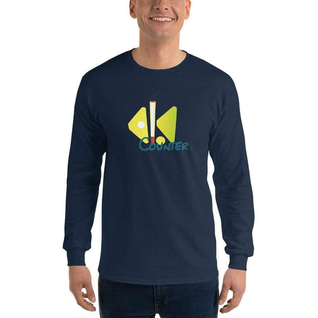 Navy / S Bengali Ultra Cotton Long Sleeve T-Shirt - Bar Counter