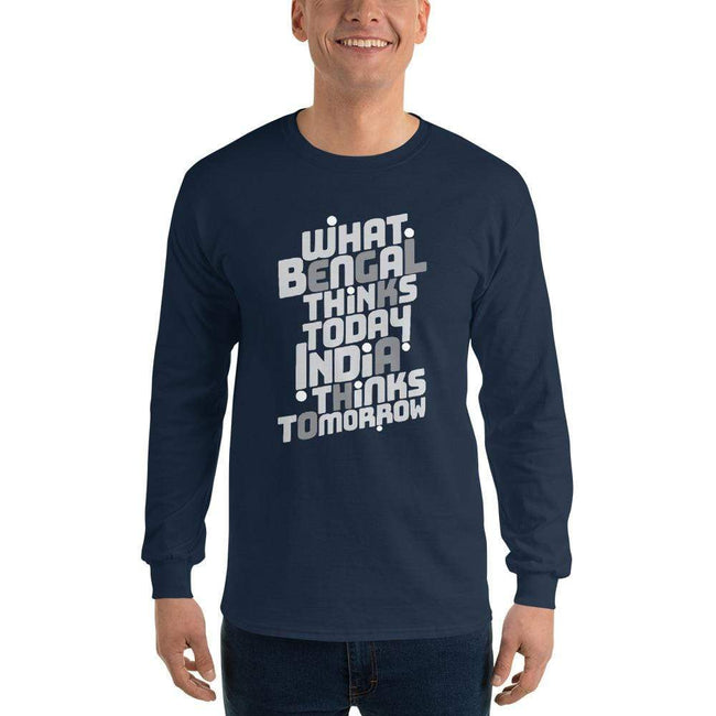 Navy / S Bengali Ultra Cotton Long Sleeve T-Shirt -Bengal