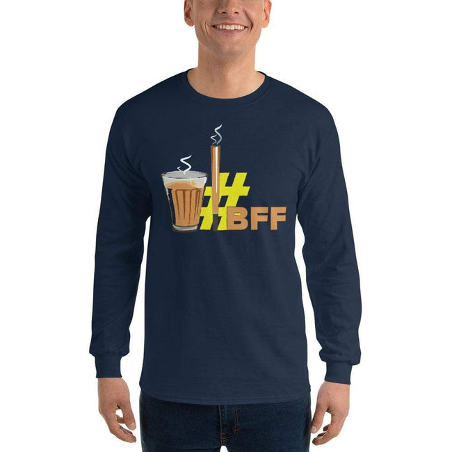 Navy / S Bengali Ultra Cotton Long Sleeve T-Shirt - BFF