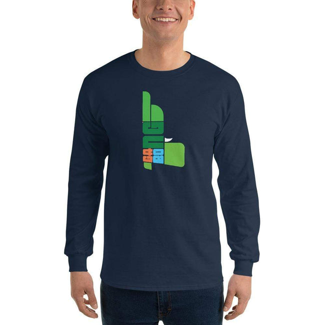 Navy / S Bengali Ultra Cotton Long Sleeve T-Shirt - GangBong