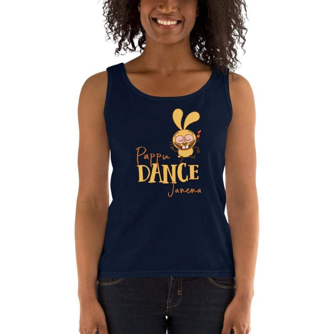 Navy / S Bengali Ultra Cotton Tank Top -Pappu Dance Janena