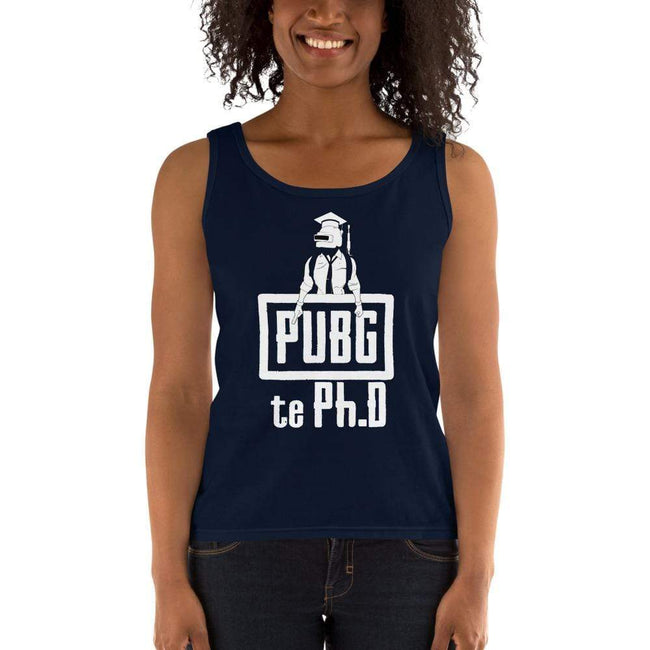 Navy / S Bengali Ultra Cotton Tank Top - PUBG Te PHD
