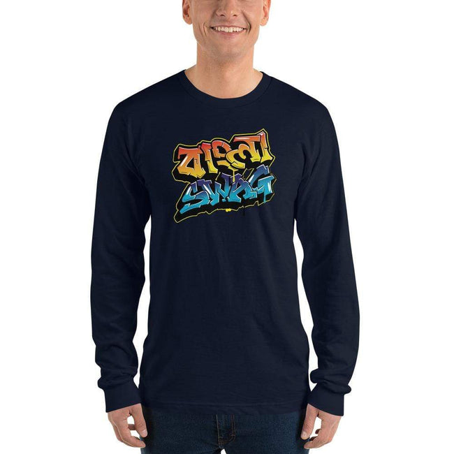Navy / S Bengali Unisex Fine Jersey Long Sleeve T-Shirt - Bangla Swag