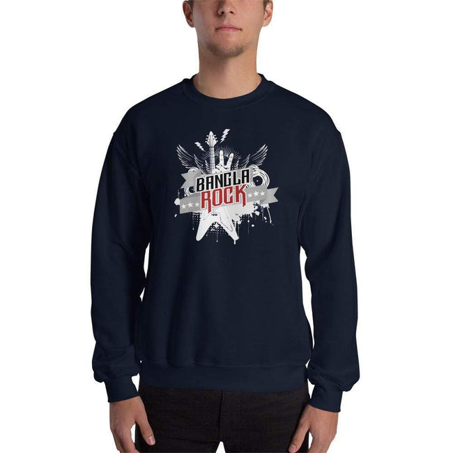 Navy / S Bengali Unisex Heavy Blend Crewneck Sweatshirt -Bangla Rock