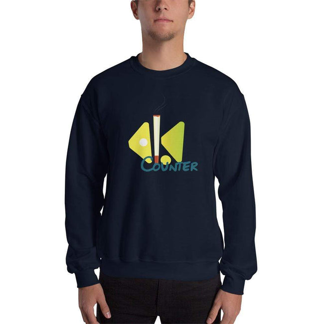 Navy / S Bengali Unisex Heavy Blend Crewneck Sweatshirt - Bar Counter