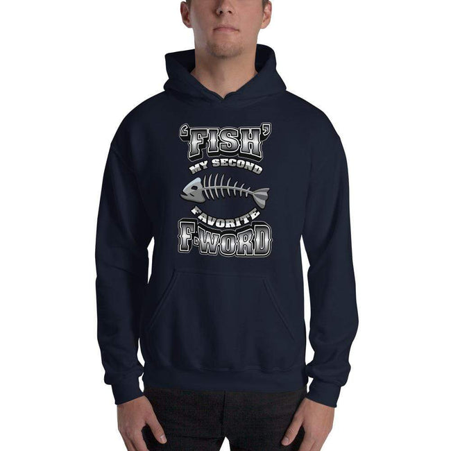 Navy / S Bengali Unisex Heavy Blend Hooded Sweatshirt - F for Fish