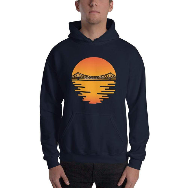 Navy / S Bengali Unisex Heavy Blend Hooded Sweatshirt - Howrah by the Dawn