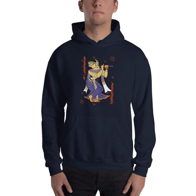 Navy / S Bengali Unisex Heavy Blend Hooded Sweatshirt -  Kalankini Radha