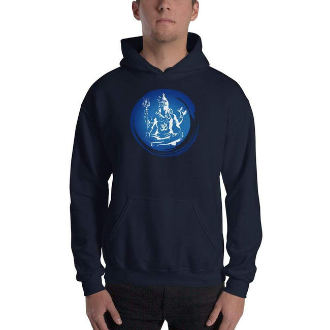 Navy / S Bengali Unisex Heavy Blend Hooded Sweatshirt - Om