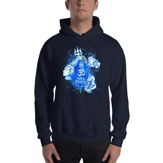 Navy / S Bengali Unisex Heavy Blend Hooded Sweatshirt - Om Namah Shivay-03