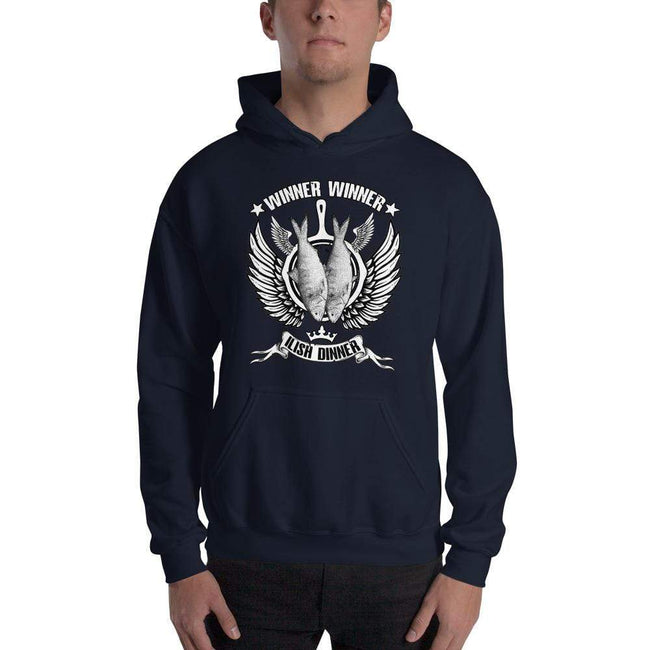 Navy / S Bengali Unisex Heavy Blend Hooded Sweatshirt - Winner Winner Ilish Dinner