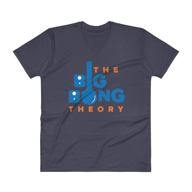 Navy / S Bengali Unisex Short Sleeve V-Neck Jersey Tee - The Big Bong Theory