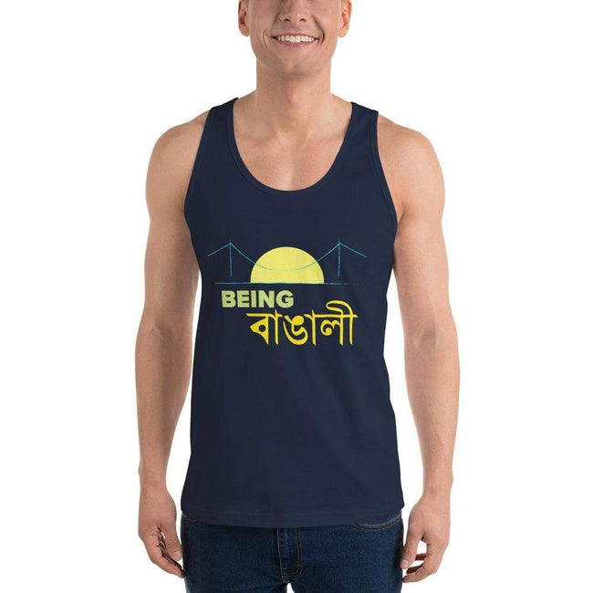 Navy / XS Bengali Fine Jersey Tank Top Unisex - Being Bangali