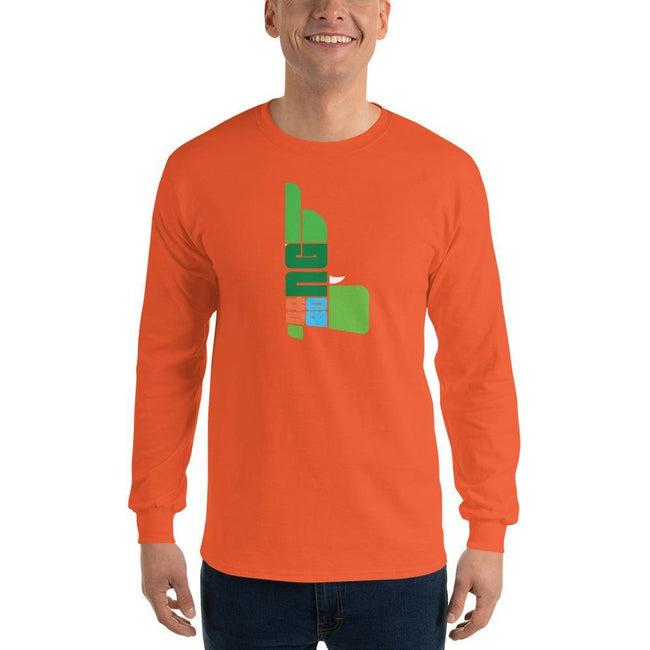 Orange / S Bengali Ultra Cotton Long Sleeve T-Shirt - GangBong