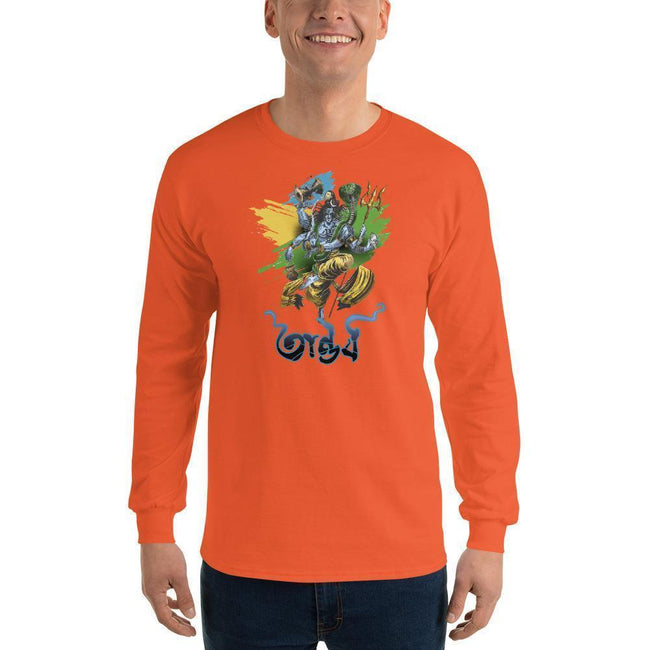 Orange / S Bengali Ultra Cotton Long Sleeve T-Shirt - Tandav