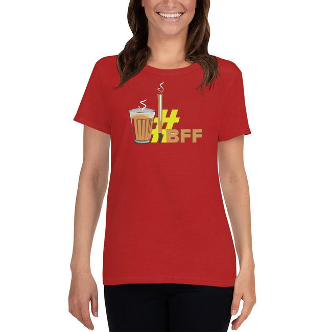 Red / S Bengali Heavy Cotton Short Sleeve T-Shirt -BFF