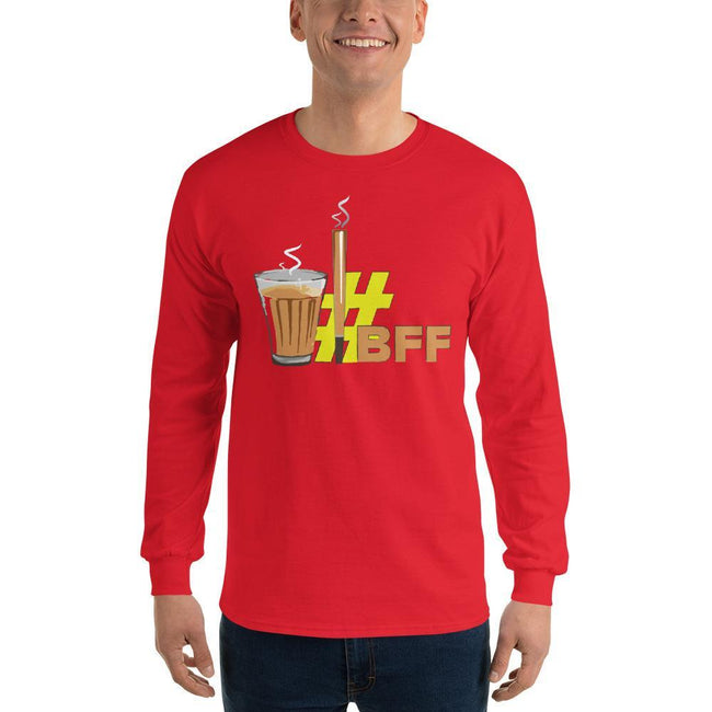 Red / S Bengali Ultra Cotton Long Sleeve T-Shirt - BFF