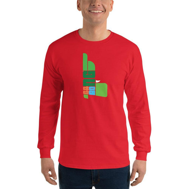 Red / S Bengali Ultra Cotton Long Sleeve T-Shirt - GangBong