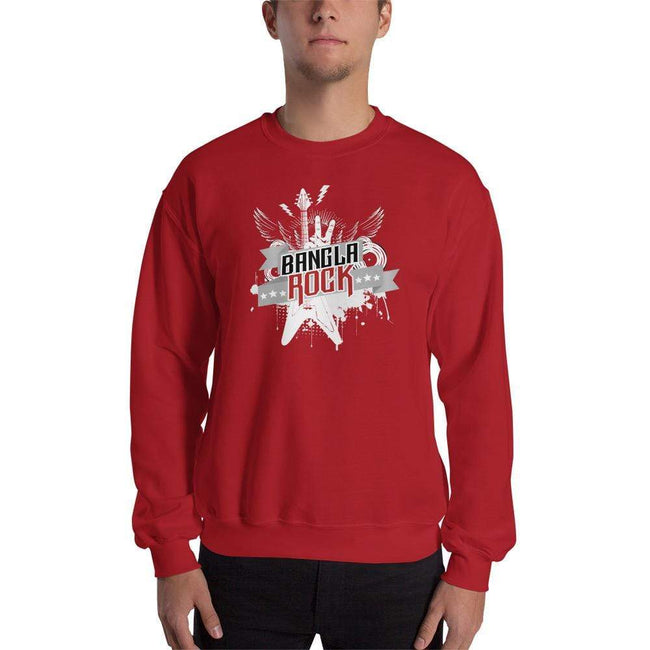 Red / S Bengali Unisex Heavy Blend Crewneck Sweatshirt -Bangla Rock