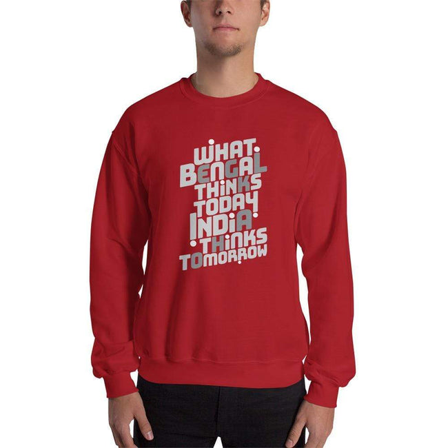 Red / S Bengali Unisex Heavy Blend Crewneck Sweatshirt -Bengal