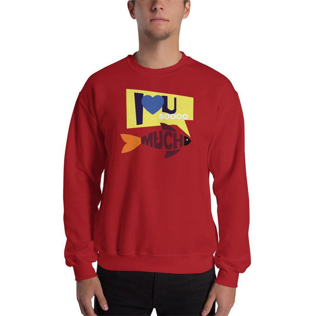Red / S Bengali Unisex Heavy Blend Crewneck Sweatshirt - I love you so much