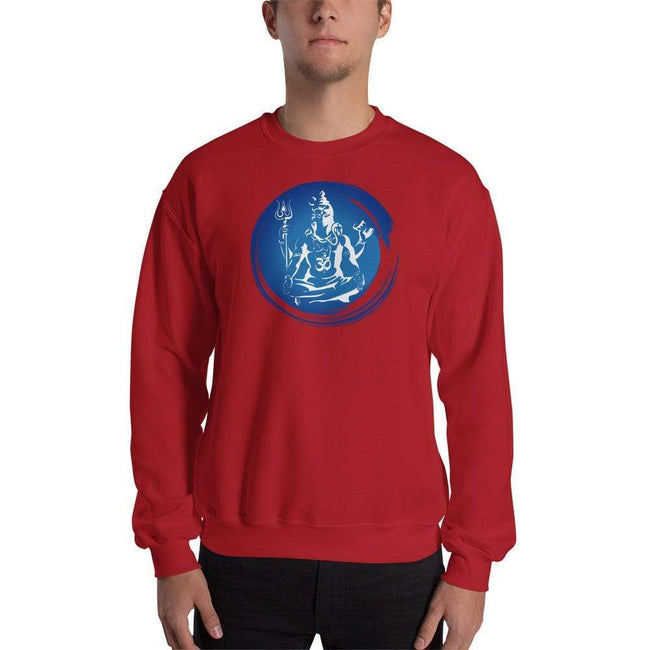 Red / S Bengali Unisex Heavy Blend Crewneck Sweatshirt - Om