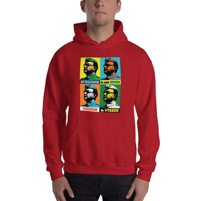 Red / S Bengali Unisex Heavy Blend Hooded Sweatshirt - Netaji
