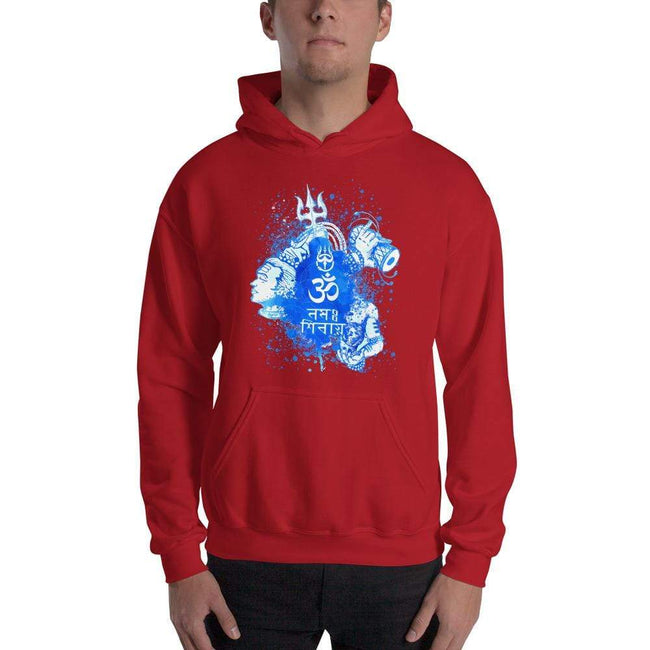 Red / S Bengali Unisex Heavy Blend Hooded Sweatshirt - Om Namah Shivay-03