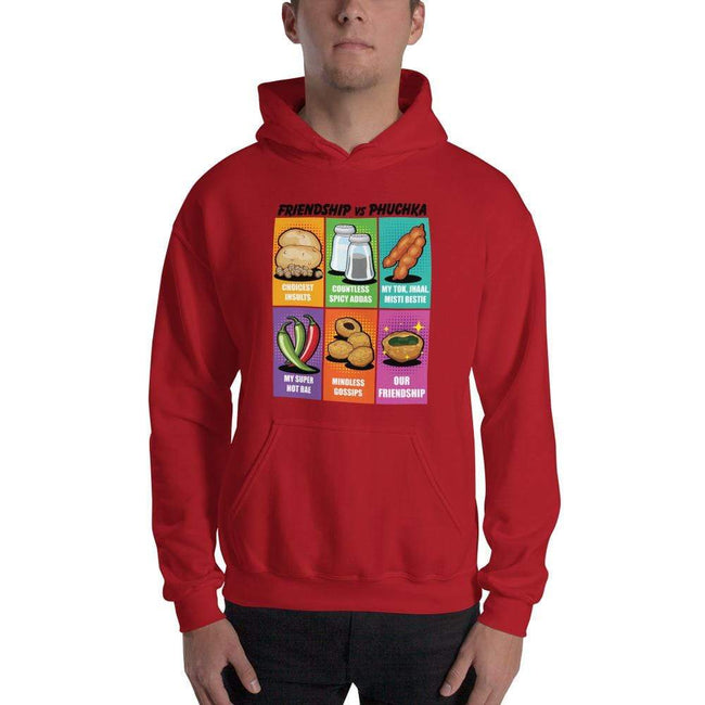 Red / S Bengali Unisex Heavy Blend Hooded Sweatshirt - Phuchka and Friends