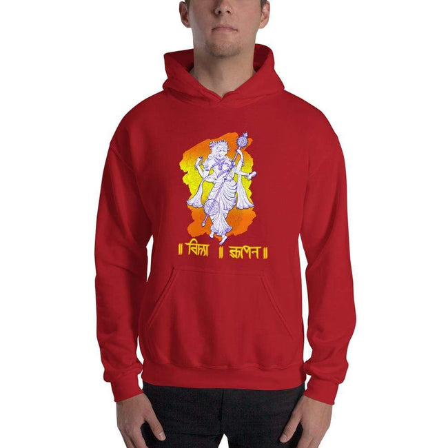 Red / S Bengali Unisex Heavy Blend Hooded Sweatshirt - Vidya Roopeno