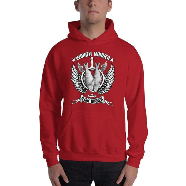 Red / S Bengali Unisex Heavy Blend Hooded Sweatshirt - Winner Winner Ilish Dinner
