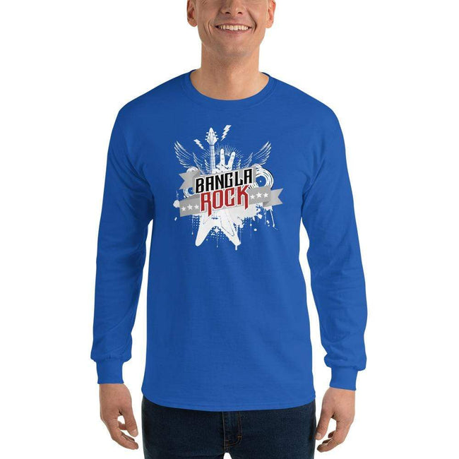 Royal / S Bengali Ultra Cotton Long Sleeve T-Shirt -Bangla Rock
