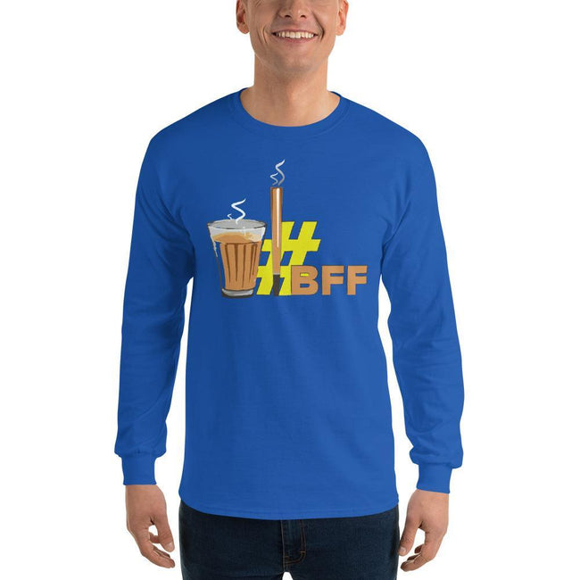 Royal / S Bengali Ultra Cotton Long Sleeve T-Shirt - BFF