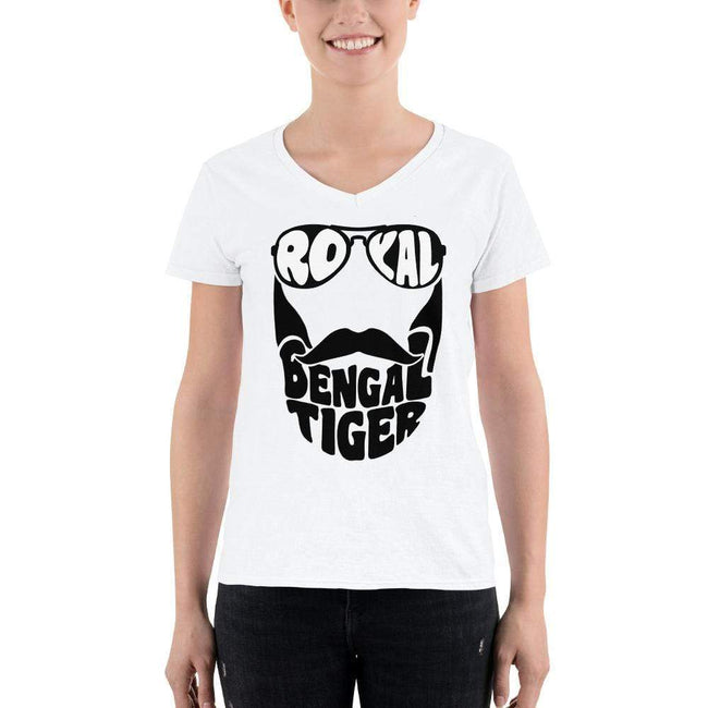 S Bengali Lightweight V-Neck T-Shirt - Royal Bengal Tiger