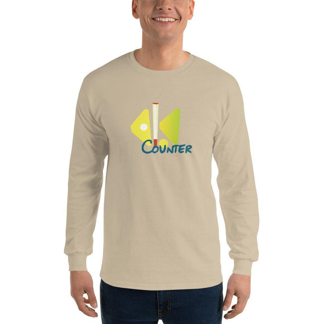 Sand / S Bengali Ultra Cotton Long Sleeve T-Shirt - Bar Counter