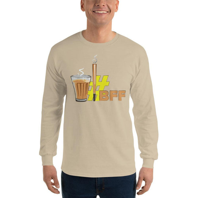 Sand / S Bengali Ultra Cotton Long Sleeve T-Shirt - BFF