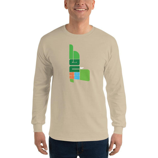 Sand / S Bengali Ultra Cotton Long Sleeve T-Shirt - GangBong