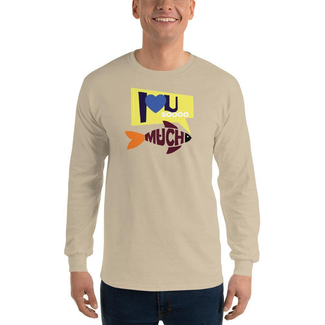 Sand / S Bengali Ultra Cotton Long Sleeve T-Shirt - I love you so much