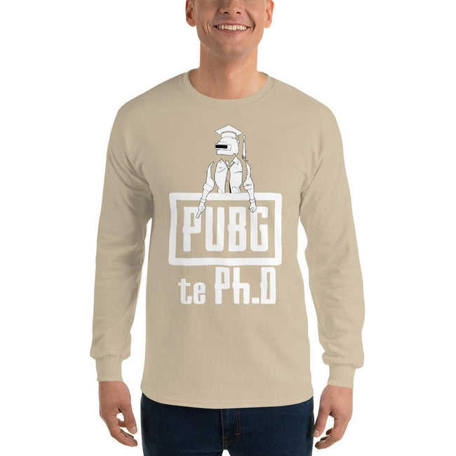 Sand / S Bengali Ultra Cotton Long Sleeve T-Shirt - PUBG Te PHD