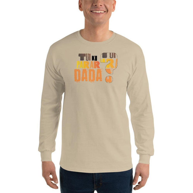 Sand / S Bengali Ultra Cotton Long Sleeve T-Shirt - Tui Ki Parar Dada?