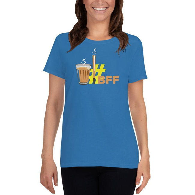 Sapphire / S Bengali Heavy Cotton Short Sleeve T-Shirt -BFF